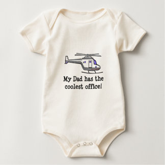My Dad's Cool Helicopter Baby Bodysuits