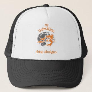 My Dalmatian Rides Shotgun Halloween Shirt Trucker Hat