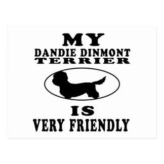 My Dandie Dinmont Terrier is very friendly Postcard