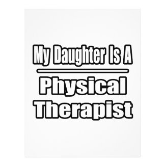 My Daughter Is A Physical Therapist 21.5 Cm X 28 Cm Flyer