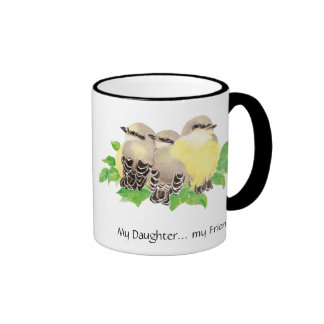 My Daughter... my Friend- cuddling Birds Coffee Mug