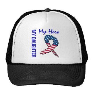 My Daughter My Hero Patriotic Grunge Ribbon Cap