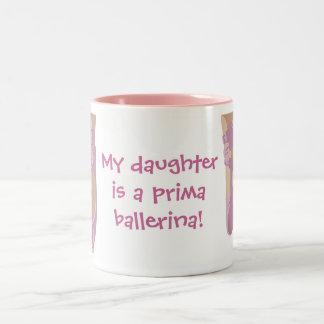 My daughter's a prima ballerina mug