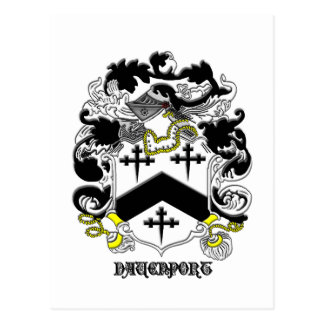 my davenport_family_crest_Black Name Postcard