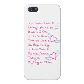 My Day 2 Shine - Pink iPhone 5 Cover