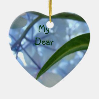 My Dear Friend ornaments Blue Floral Flower