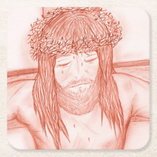 My Dear Lord IV Square Paper Coaster