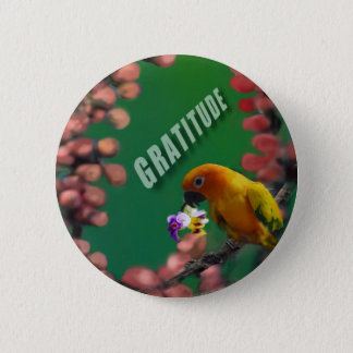 My deepest thanks to you. 6 cm round badge