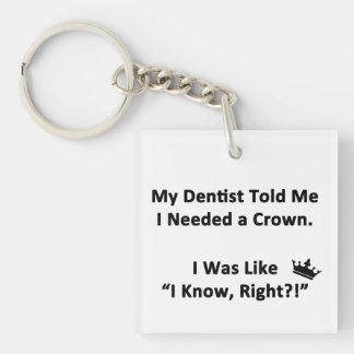 My Dentist Told Me Key Ring