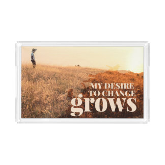 My Desire To Change by Inspirational Downloads Acrylic Tray