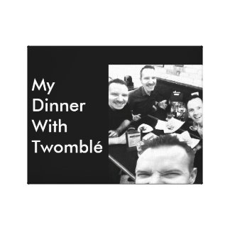 My Dinner With Twomblé Canvas Print
