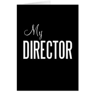 My Director greeting card (custom)