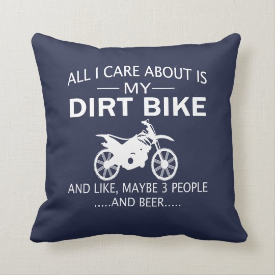 My DIRTBIKE and BEER Cushion