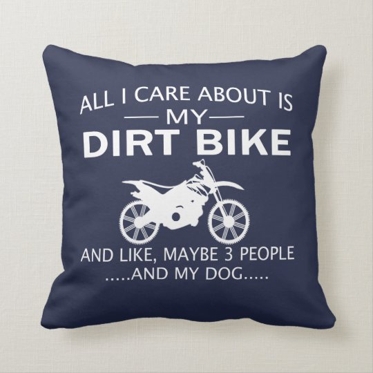 MY DIRTBIKE and DOGs Cushion