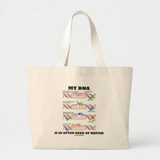 My DNA Is In Often Need Of Repair (DNA Humor) Canvas Bag