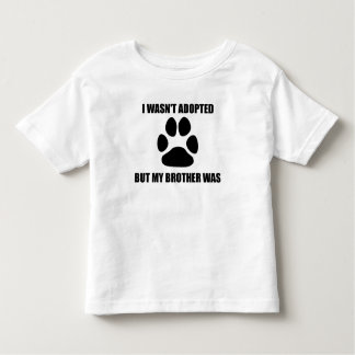 My Dog Brother Was Adopted Toddler T-Shirt