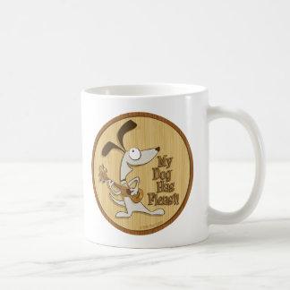 My Dog Has Fleas/Heart Uke Classic White Coffee Mug