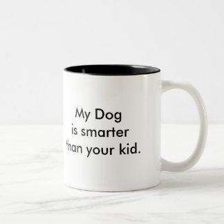 My Dog is smarter than your kid! Mug! Two-Tone Mug