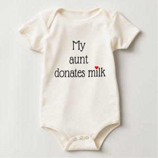 My ____ donates milk with small red heart baby bodysuit