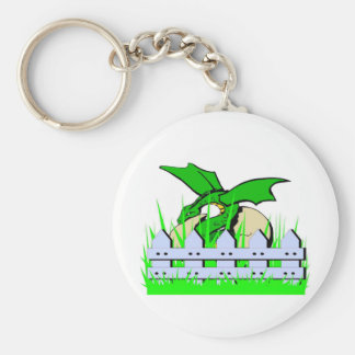 My Dragon Fenced In - Collection Basic Round Button Key Ring
