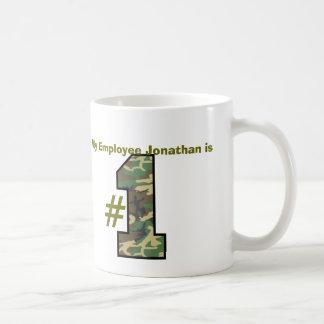 My EMPLOYEE is Number One Custom Name Gift Basic White Mug