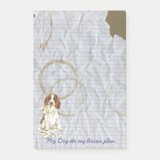 My English Springer Spaniel Ate My Lesson Plan Post-it Notes