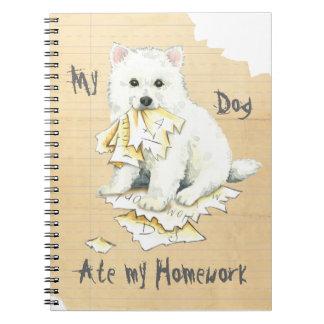 My Eskie Ate My Homework Notebook