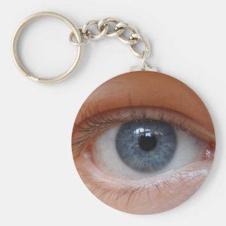My Eye Phone Basic Round Button Key Ring