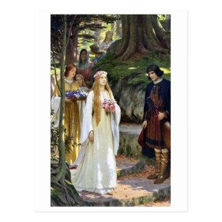 My Fair Lady, Edmund Leighton Art 1914 Vintage Postcard