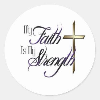 My Faith Classic Round Sticker