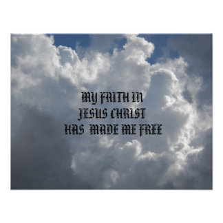 MY FAITH IN JESUS CHRIST PERSONALIZED ANNOUNCEMENT