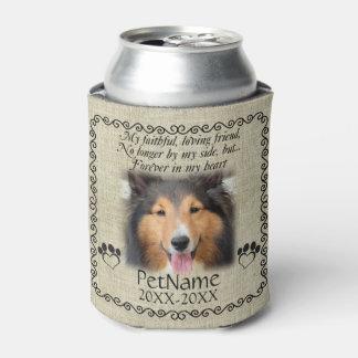 My Faithful Friend Pet Sympathy Custom Burlap Can Cooler