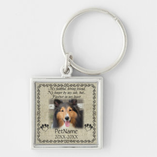 My Faithful Friend Pet Sympathy Custom Burlap Key Chains