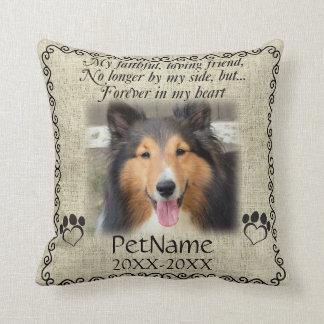 My Faithful Friend Pet Sympathy Custom Burlap Throw Pillow