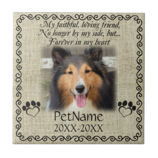 My Faithful Friend Pet Sympathy Custom Burlap Tile