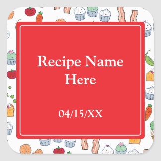 My Family Recipes Square Sticker