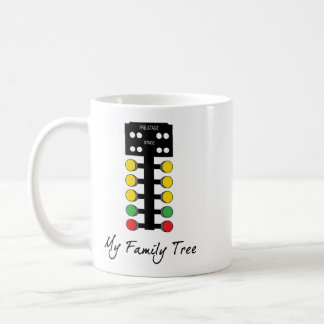My Family Tree - Drag Racing Christmas Tree Coffee Mug