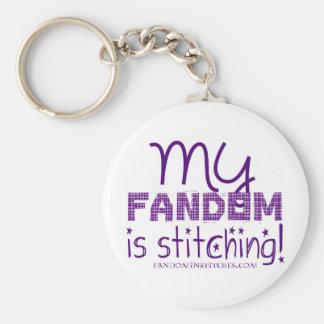 My Fandom Is Stitching! Key Ring