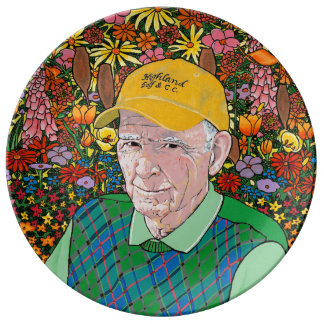 MY FATHER IN HIS GARDEN PLATE