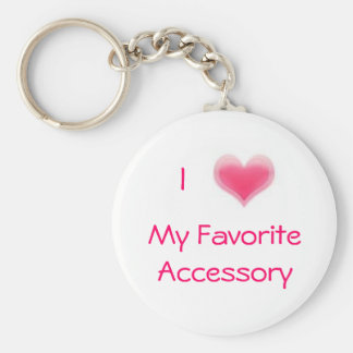 My Favorite Accessory Basic Round Button Key Ring