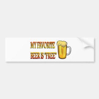 My Favorite Beer is Free Bumper Sticker