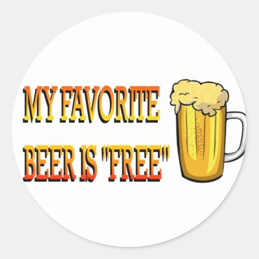 My Favorite Beer is Free Sticker