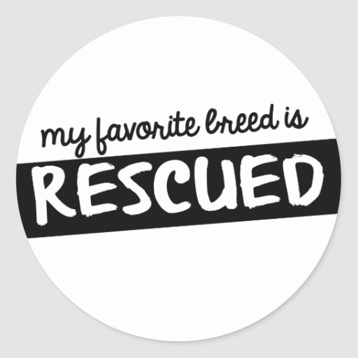 My Favorite Breed is Rescued Sticker