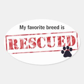 My Favorite Breed Is Rescued Sticker