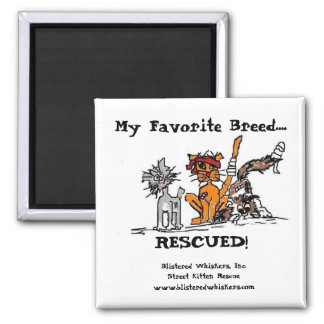 My Favorite Breed RESCUED Magnets