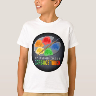 My Favorite Color Is Garbage Truck Kids T-Shirt