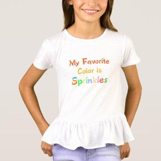 my favorite color is sprinkles funny tshirt design