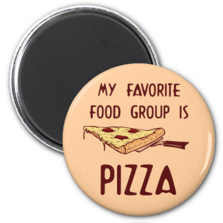 My Favorite Food Group is Pizza 6 Cm Round Magnet