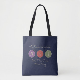 My Favorite Notes Tote Bag