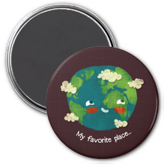 My favorite place 7.5 cm round magnet